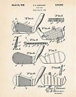 1936 Golf Accessories Vintage Club Prints Patent Art Drawing by G.E. Barnhart