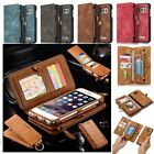 Genuine Leather Flip Wallet Phone Case Cover for iPhone 7 Plus 6S Samsung Galaxy $12.49 USD