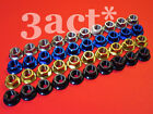 10 - Ti, Gold, Blue Colour M12 x 1.25 Pitch Titanium/Ti Sprocket Flange Bolt Nut
