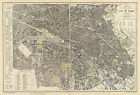 1883 Paris France Map Vintage History Home School Office Wall Poster Geneology