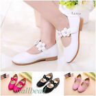 Children Baby Girl's Princess Toddler Flat Pink Kids School Casual Leather Shoes