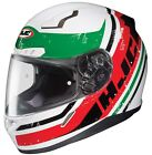 HJC Red/White/Green/Black CL-17 Victory Motorcycle Helmet Full Face MC-1