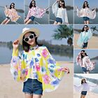 Women Summer Wearable Shawl Wraps Riding Beach Sun Protection Scarf Covers Up