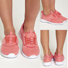 DIVADAMES  Womens Pink Athletic Lace Up Trainers-2018-13