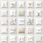 Rose Gold Marble Letter Throw Pillows Case Sofa Cushion Cover Home Decorative