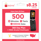 Red Pocket 1 Year Prepaid Wireless Plan-Alcatel OneTouch Fling-No Contract