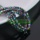Hematite Color Square Cube Silver Gold Multicolor Beads 3/4/6/10/14mm Making DIY