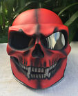 Motorcycle Helmet Monster Skull Skeleton Death Red Ghost Visor Shield Full Face