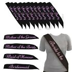 *BLACK WITH PINK* BULK BUY LOT HEN PARTY BRIDE TO BE SASH GIRLS NIGHT OUT DO