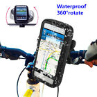 360° Bike Bicycle Cycling Handlebar Cell Phone Holder Mount Waterproof Bag Case