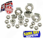 A2 Full Nut Stainless Steel HEXAGON STEEL NUTS M2 M3 M4 M5 M6 M7 M8 M10