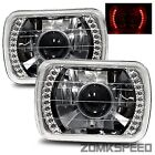 1979-1987 Chevy Chevette 7X6 H6014/H6052/H6054 Chrome Crystal Square Projecto...