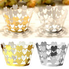 25pcs Heart Cupcake Cake Cup Wrappers Wrap Paper Case Wedding Birthday Party New