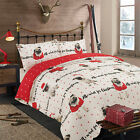 All I Want for Christmas Duvet Cover with Pillowcase Bedding Set Pug Dog Red Dot