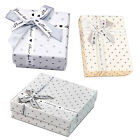 COOL 3PCS High Quality Jewellery Gift Boxes Bag Necklace Bracelet Ring Set Small