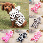 Pet Puppy Dog Lovely Four Legs Garments Double Flannel Pet Clothing