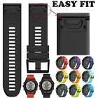 26mm Quick Install Silicone Rubber Band Wrist Strap For Garmin Fenix 5X Watch