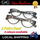 Womens Women Ladies Full Matt Rim Cat Eye Reading Glasses 2 Pairs Deal 1.0~3.5