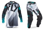 NEW 2017 FLY RACING KINETIC LITE HYDROGEN GEAR COMBO BLACK/WHT/TEAL SIZE 32/MED