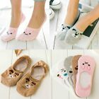 1 Pairs Ladies Cute Non-Slip Boat  Loafer Cotton Invisible Low Cut No Show Socks