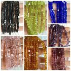 80 x 4MM Assorted Mixed colors Flat square glass clear Crystal Beads