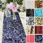 """TABLE RUNNER 13"""" x 108"""" Large Payette Sequins Wedding Party Dinner Table Supply"""
