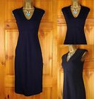 NEW M&S LADIES MIDNIGHT BLUE NAVY PANEL WORK OFFICE SHIFT DRESS UK SIZE 6-22