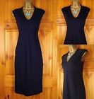 NEW M&S LADIES MIDNIGHT BLUE NAVY PANEL WORK OFFICE SHIFT DRESS UK SIZE 6-16