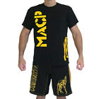 Modern Army Combatives Knee Fight Shirt MACP - Black & Gold -100% Cotton