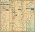 1863 Civil War Military Map Panorama Of The Mississippi Valley River Wall Poster