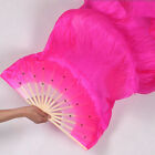 Popular 1.8m Hand Made Colorful Belly Dancing Bamboo Long Silk Veils Dance Fans