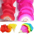 Popular 18m Hand Made Colorful Belly Dancing Bamboo Long Silk Veils Dance Fans