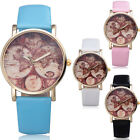 New Arrival Women Casual Dress Wrist Watch Retro Dial Pu Leather Strap Hot c9