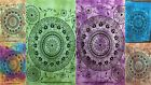 Cotton Flower Mandala Small Yoga Mat Tapestry Ethnic Indian Wall Table Cover Art