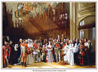 THE CHRISTENING OF PRINCE OF WALES PRINT.QUEEN VICTORIA.AVAILABLE ON CANVAS, TOO