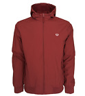 Fred Perry Coat - Hooded Brentham Jacket  - Rosewood - Fleece Lined - J2506 D50