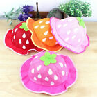 Fashion Bucket Hats Cute Mesh Sun Cap Dot Infant Strawberry Caps JR