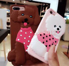 Cute Bichon Poodle Dog Rugged Rubber Silicone Case Cover for iPhone 6 6S 7 Plus