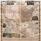 1862 Naval Military US Civil War Map Historiy Vintage Antique Wall Poster Decor