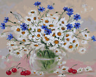 """16X20"""" Beautiful Flowers Paint By Number Kit DIY Acrylic Oil Painting on Canvas"""