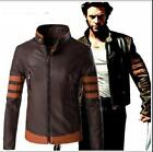 New! X-Men Origins: Wolverine Leather Jacket Logans Motorcycle Coat Tops