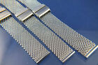 Vintage Retro 1960s 1970s Period Style Stainless Steel Mesh Watch Strap Bracelet