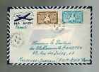 1947 Phnom Penh Cabodia  Airmail Cover to France via Air France