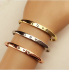 Hot Women Gold/silver Plated Love Bracelet Jewelry Stainless Steel Cuff Bangle