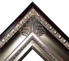 "4.25"" fancy Silver Leaf Ornate Oil Painting Wood Picture Frame 650S 30x40 36x48"