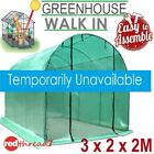 Greenhouse 3X2X2M Walk In Garden Plant Shed PE Mesh Green Cover Hot House Tunnel