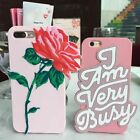 3D Cartoon Words/Rose Soft Silicone Phone Case Cover For iPhone 6/6S/7/8/X Plus