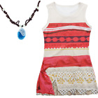 New Girls Moana Halloween Cosplay Costume Fancy Kids Summer Party Dress Outfit
