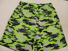 Men's Badger Camouflage Printed Shorts, Lime Green