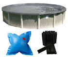 Above Ground Round Supreme Plus Swimming Pool Winter Cover w/ Clips & Air Pillow